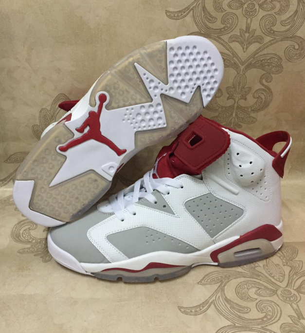 Air Jordan 6 Retro white/gray/red