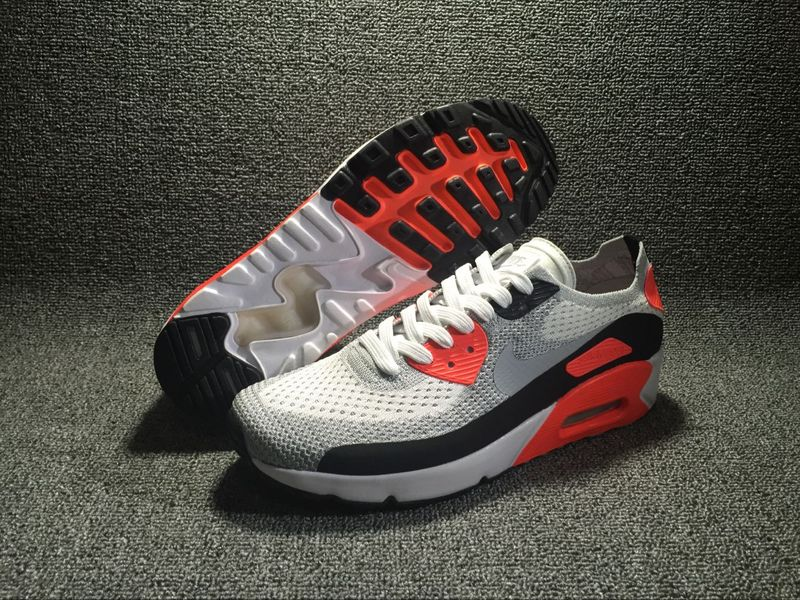 Nike Air Max 90 Ultra 2.0 Flyknit Black/Gray/OrangeRed