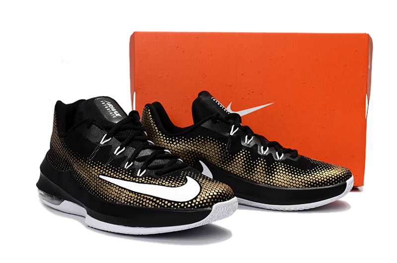 Nike Air Max Infuriate Low Black/Metallic Gold/White