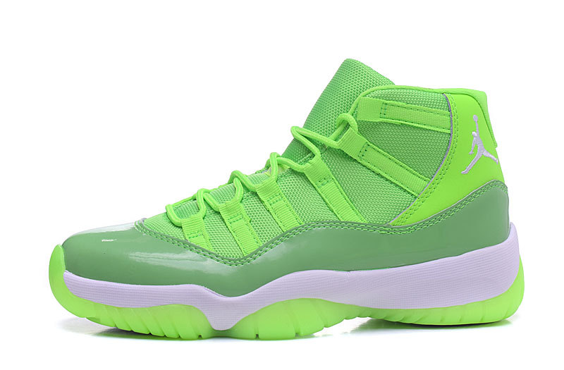 Air Jordan 11 Suede Chartreuse/Chartreuse