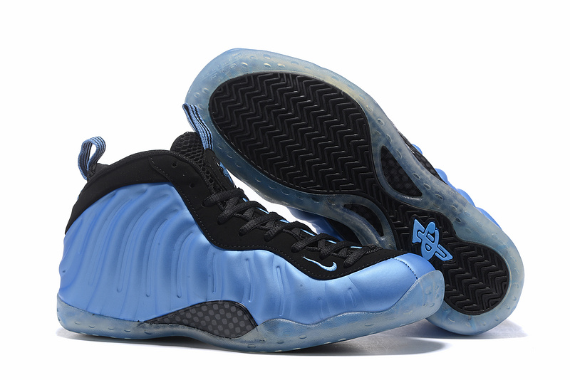 Nike Air Foamposite Pro Black/DeepSkyBlue