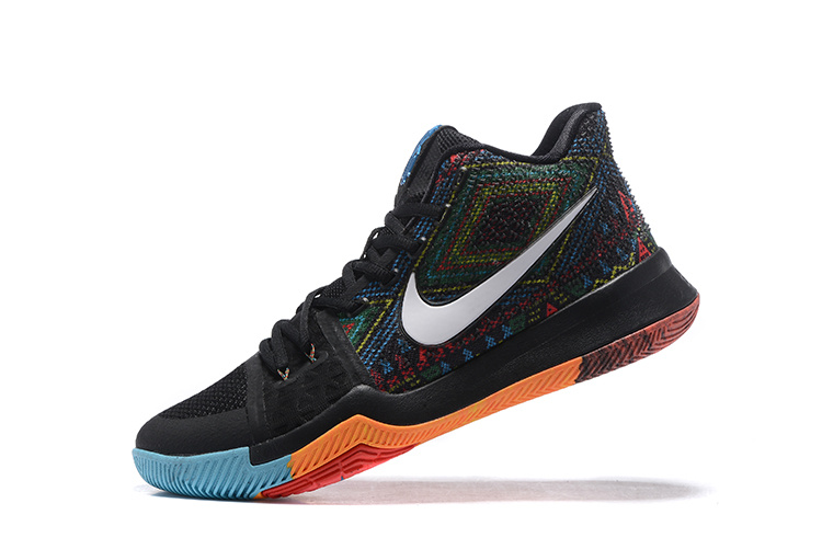 Nike Kyrie 3 Black/Rainbow
